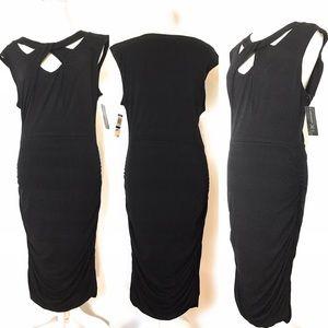 Inc new black raunch dress, Sz Xlarge